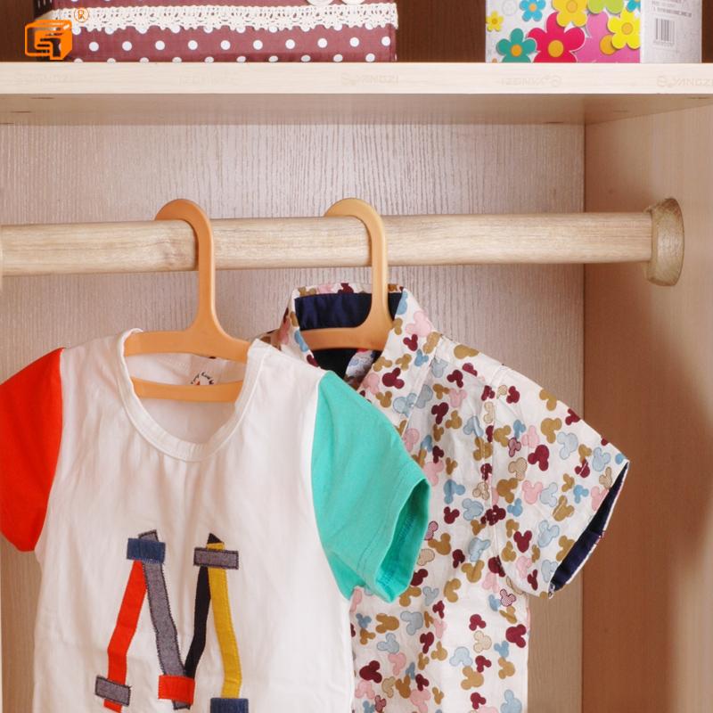 柜子免打孔实木挂杆简易衣通加厚衣橱横杆 香樟木衣柜挂衣杆套餐