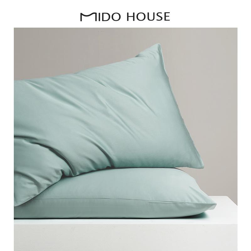 枕套一对装单人纯棉大号成人情侣韩式纯色枕头罩48*74全棉枕头套