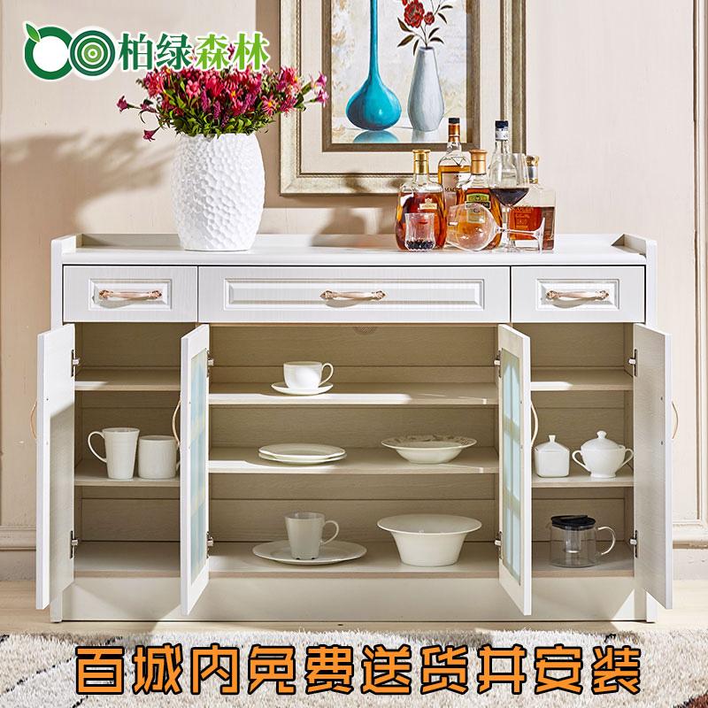 现代简约餐边柜酒柜厨房收纳柜子柜储物柜微波炉欧式碗柜茶水柜