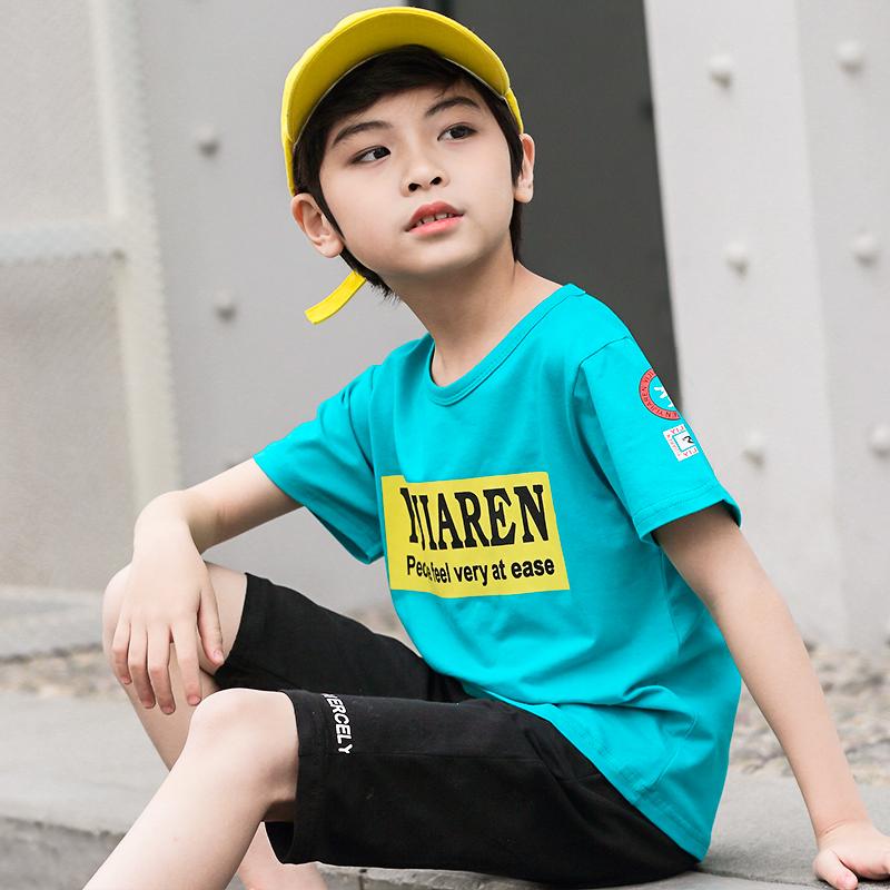 男童短袖t恤夏装中大童2019新款男孩短袖纯棉韩版儿童半袖潮童装