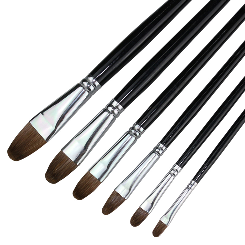 水粉笔 套装单支画笔狼毫水彩学生成人美术专业丙烯画排笔 油画笔