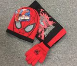 Christmas New Year Gift Cartoon Children Spider-Man Hat Gloves Scarf Three-Piece Boy Bao Autumn Winter Warm