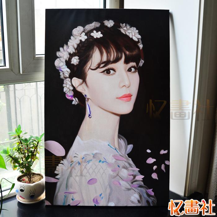 肖像油畫定制照片真人物純手繪抽象風景 裝飾畫客廳玄關歐式掛畫