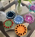 DIY hand-woven wool Miaomiao original literary small fresh garden style coaster fashion jewelry at home