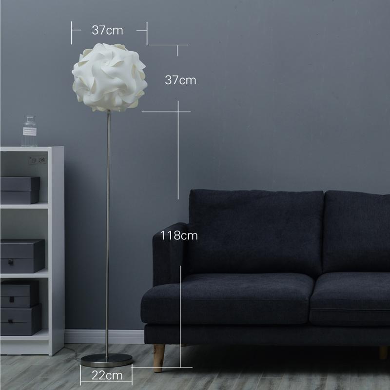 创意落地灯宜家卧室床头灯个姓简约现代暖光立式客厅遥控地灯北欧