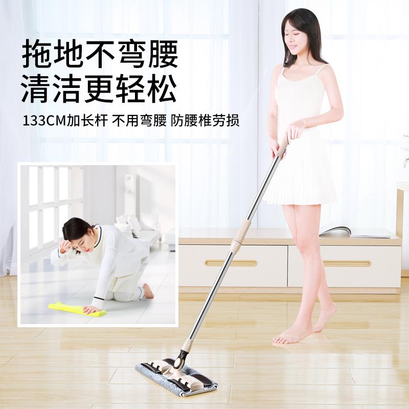 懒人平板拖把家用一拖免手洗吸水干湿两用木地板拖布拖地神器桶净