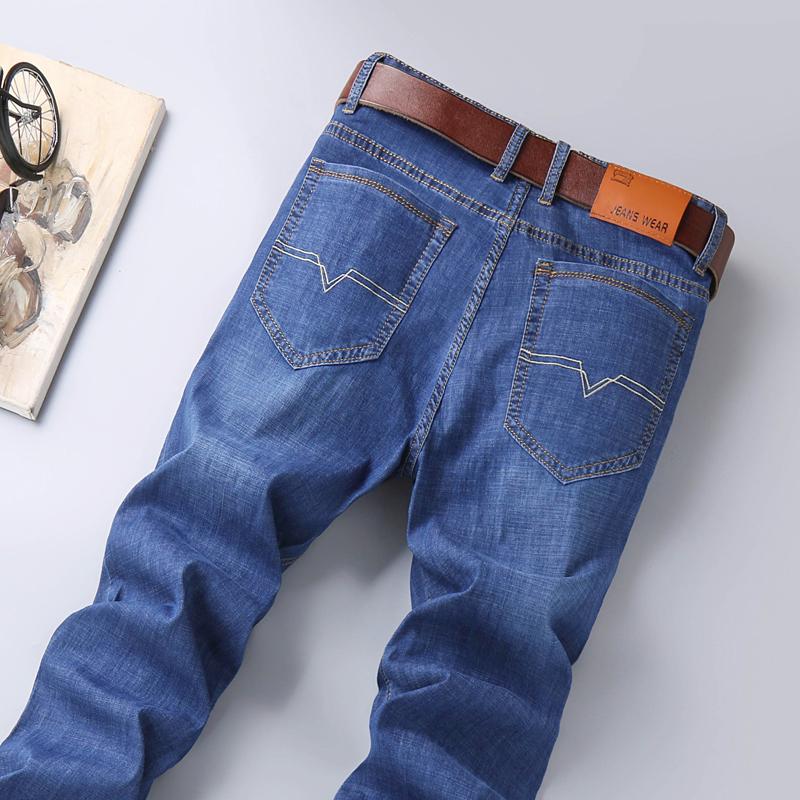 2021年夏季薄款牛仔裤男直筒宽松长裤子男士新款休闲百搭潮牌
