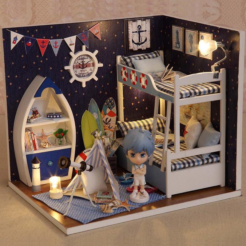 diy玻璃小木屋手工拼装模型玩具房子建筑创意送男女生日创意礼物