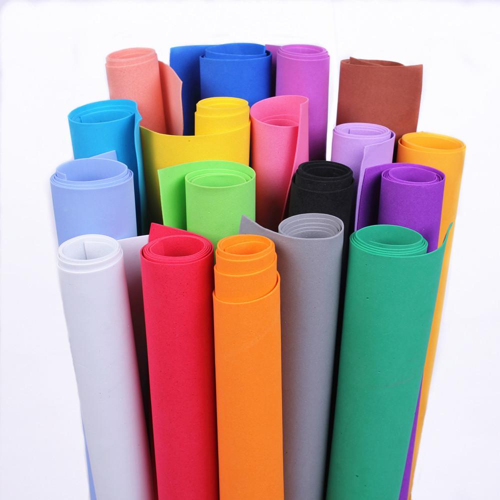林芳20g大张1MM厚海绵纸橡塑纸泡沫海棉纸手工彩色纸幼儿园diy纸
