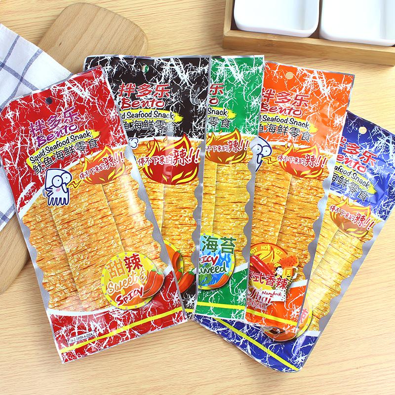 泰国进口BENTO手撕鱿鱼片甜辣味20g红袋拌多乐泰式鱿鱼干辣味零食高清大图