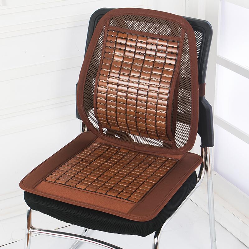 坐垫靠垫一体夏季透气麻将凉席椅子垫凉垫单片办公室学生座垫汽车