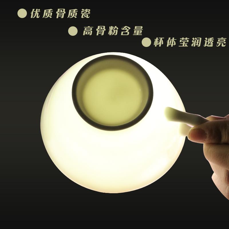 骨瓷纯白咖啡杯碟办公咖啡杯定制logo印字咖啡厅陶瓷杯子带碟送勺