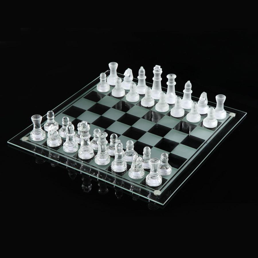 精美玻璃國際象棋 黑色透明象棋 中號 galss chess玻璃國際象棋