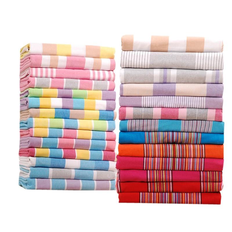 加厚老粗布床单单件双人单人宿舍炕单不掉色不起皱1.5 1.8床特价