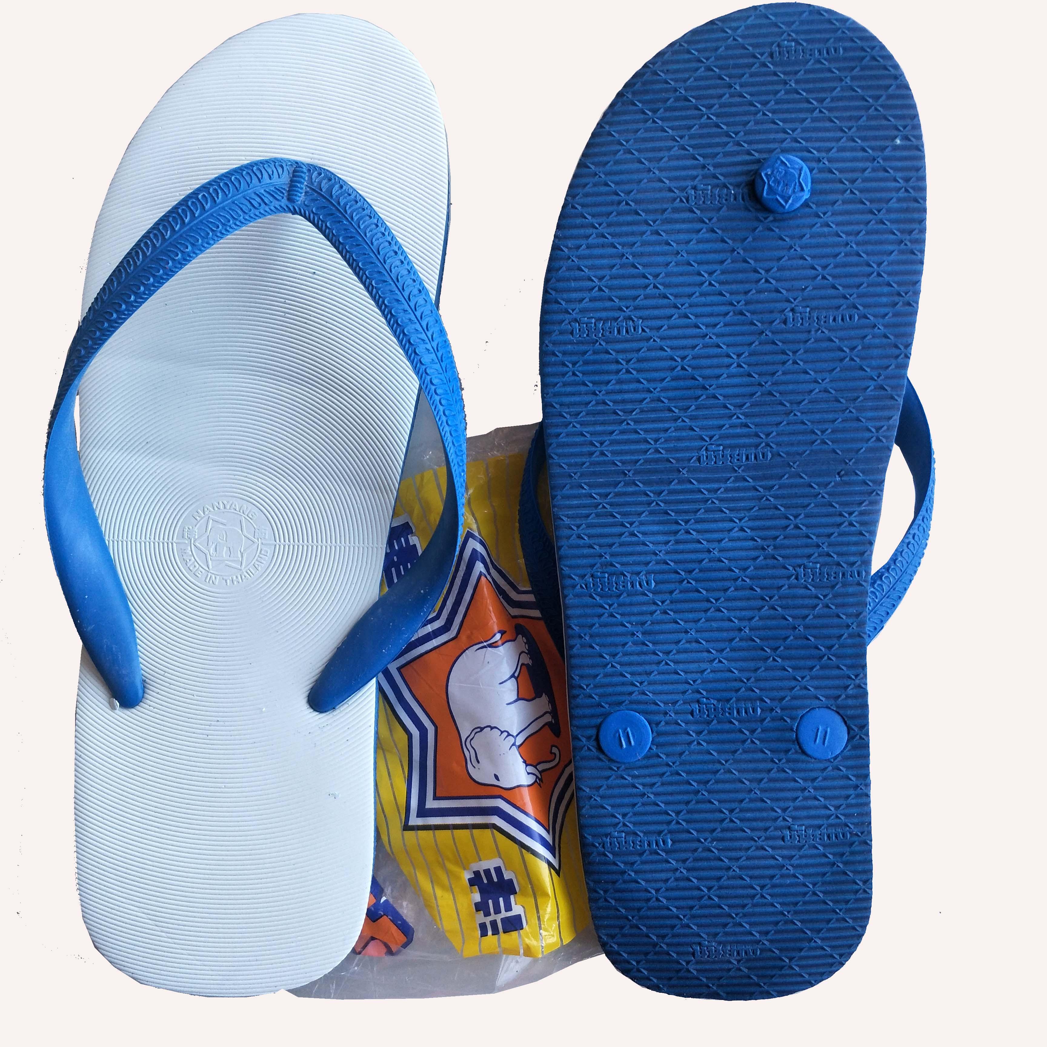 泰国象牌越南进口天然全橡胶大象乳胶拖鞋男夏白色人字拖夹趾凉拖高清大图