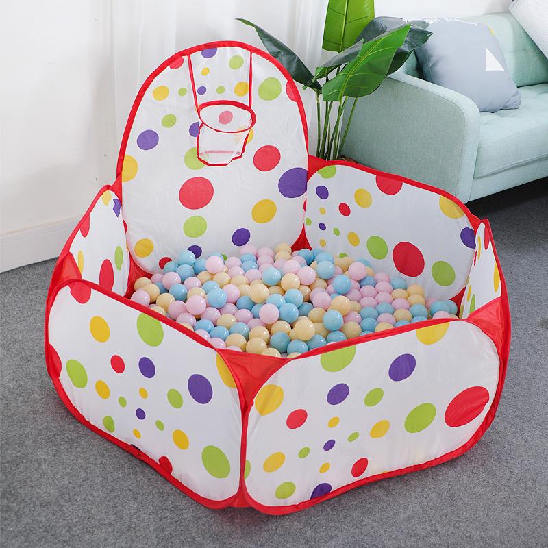 海洋球池玩具围栏宝宝室内家用游戏屋儿童帐篷马卡龙波波球加厚