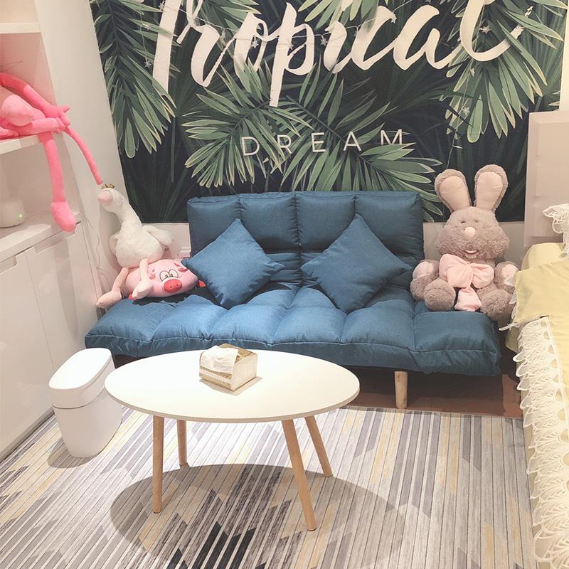 懶人沙發卧室小沙發小戶型雙人榻榻米網紅沙發簡易摺疊單人沙發床