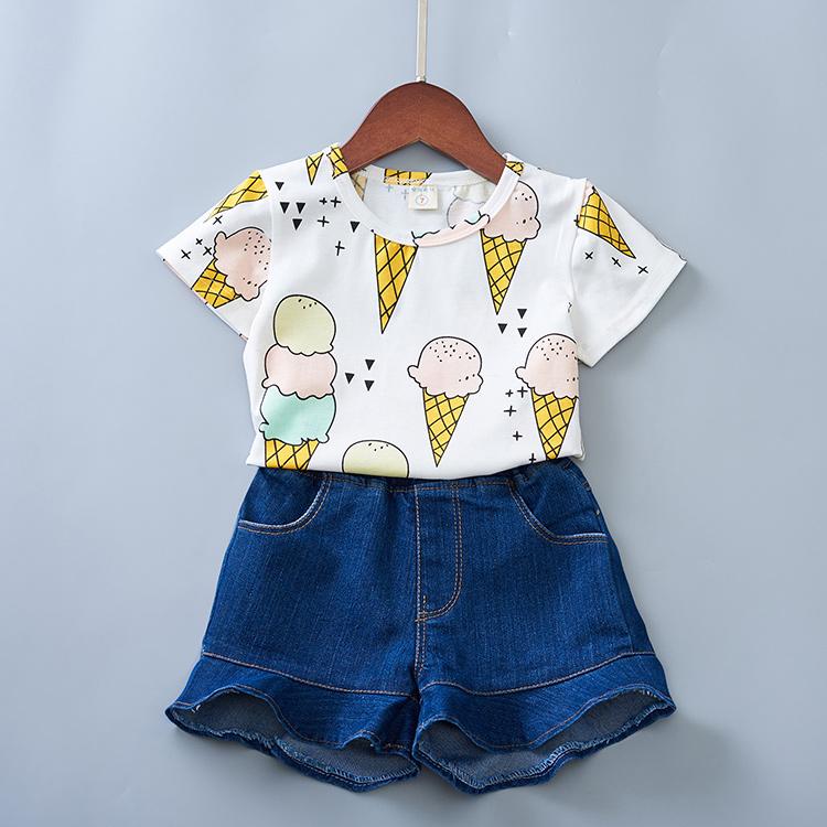 2021韩版童装女童夏季新款甜美冰激凌百搭短袖T恤0118