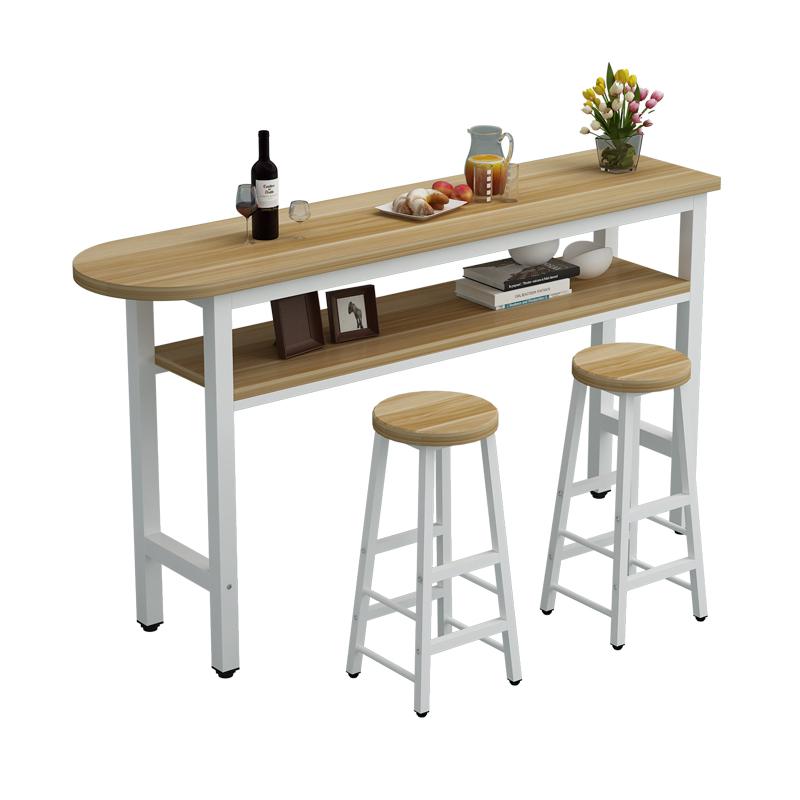 现代简易吧台桌家用客厅隔断靠墙吧台酒吧高脚桌茶餐厅桌椅