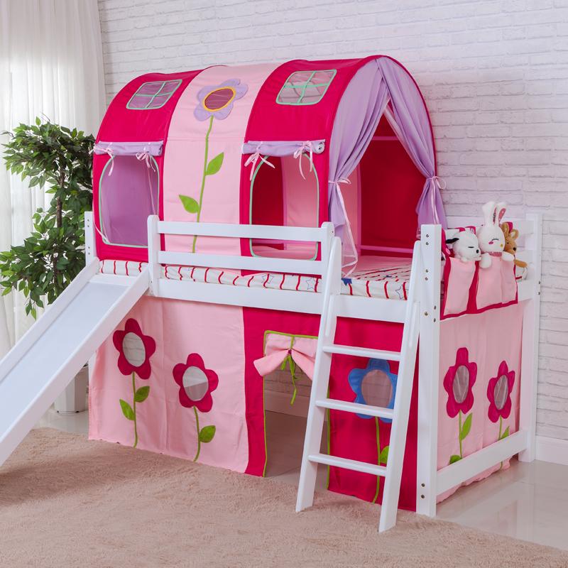 儿童床上帐篷女孩粉色防蚊防摔防坠上下铺分床神器睡觉屋可定制