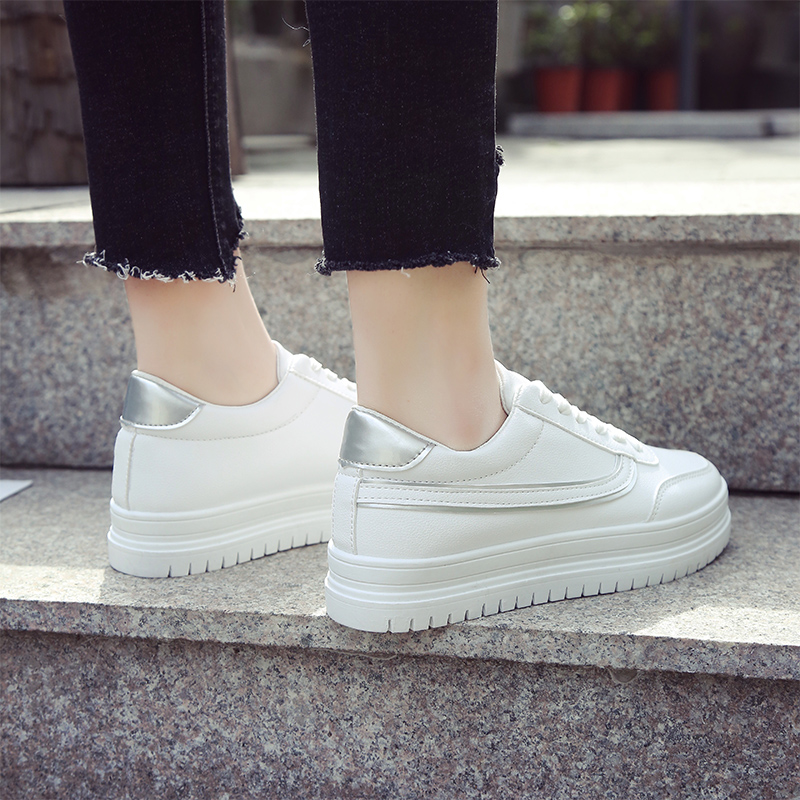 2018春季新款百搭休闲白鞋韩版夏季学生厚底街拍板鞋秋季小白女鞋