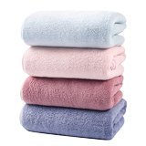 Large towel does not lose hair, coral velvet wipes hair, dry hair towel, quick-drying, absorbs water than cotton.