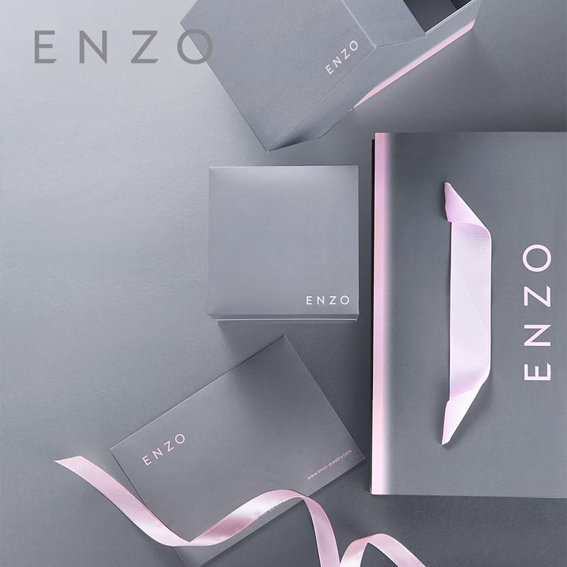 enzo18K黄金透辉石戒指 经典简单显大彩宝戒指 时尚珠宝群镶钻石