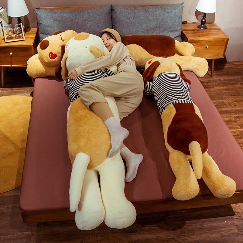 趴趴狗公仔睡觉抱枕男女生娃娃毛绒玩具可爱床上玩偶大号夹腿长枕