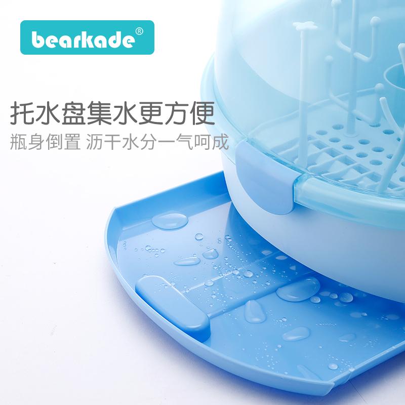 婴儿奶瓶收纳箱用品带盖防尘干燥晾干沥水架宝宝餐具储存盒收纳盒