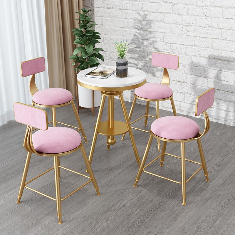 北欧奶茶店桌椅组合小圆桌小茶几咖啡厅店休闲吧桌椅三件套
