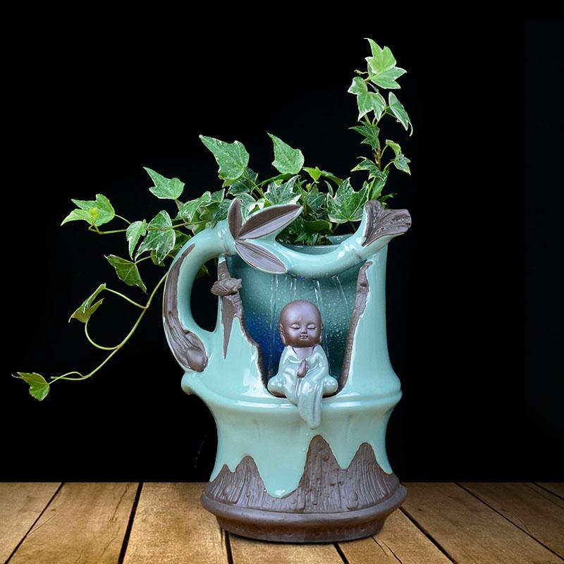 绿箩盆栽去甲醛植物室内花草绿萝净化空气