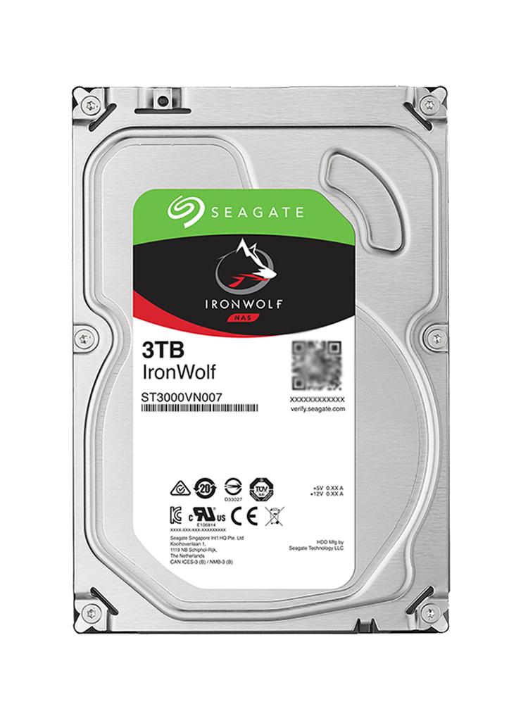 Seagate/希捷 ST3000VN007 酷狼机械硬盘3t服务器nas存储硬盘