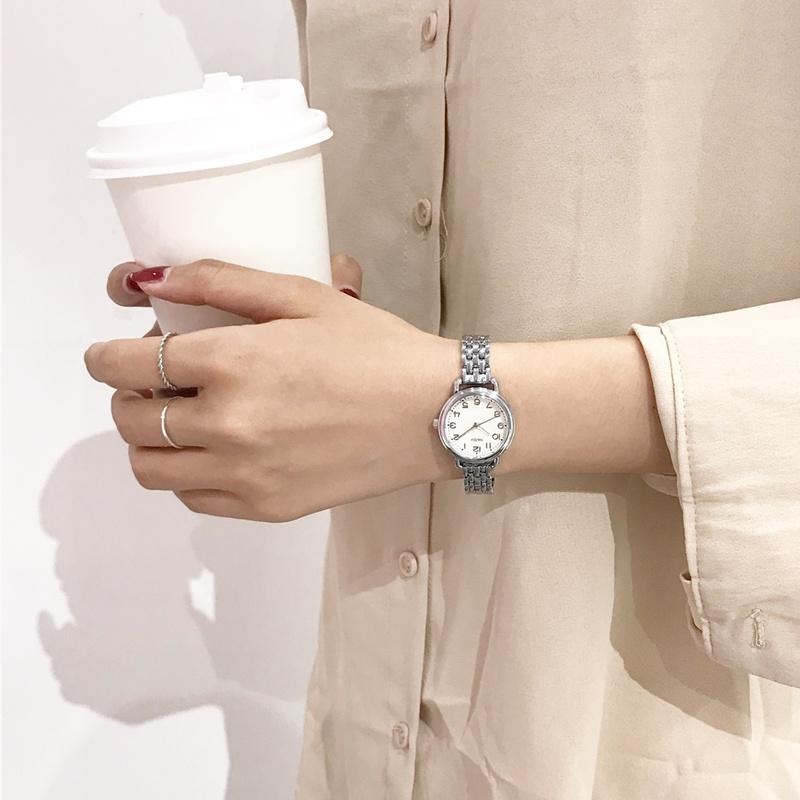 森系小清新手表ins超火的女款气质学院风文艺小表盘细带小巧手链