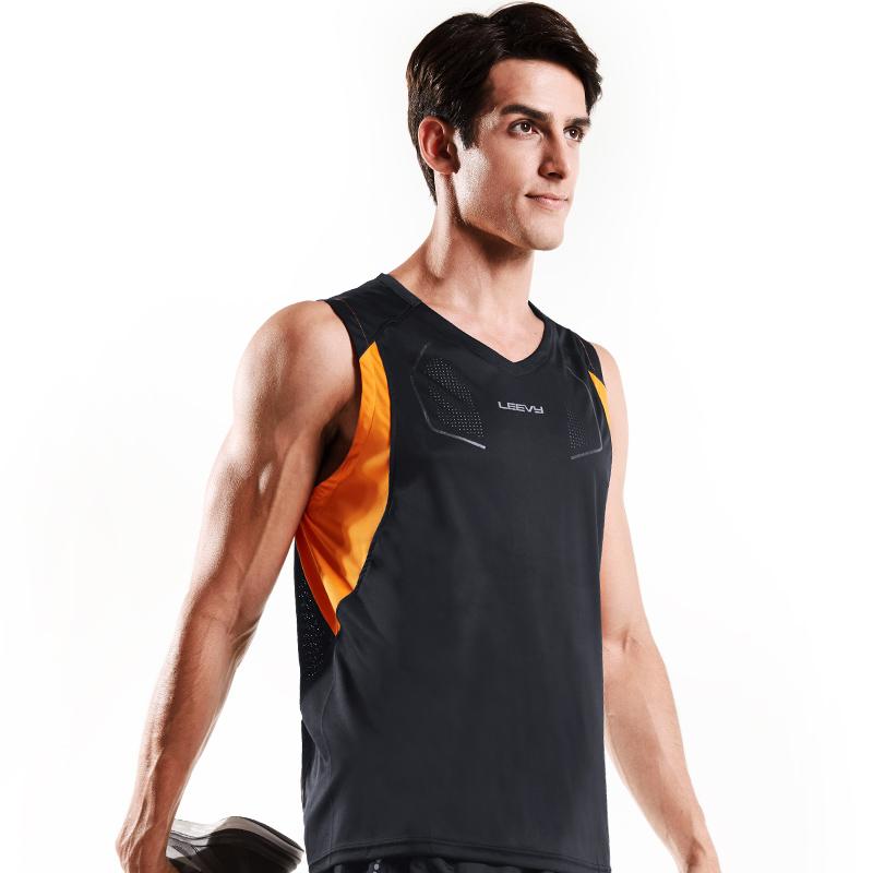 力为 跑步背心男速干宽肩 夏无袖运动休闲t恤 宽松透气健身篮球服