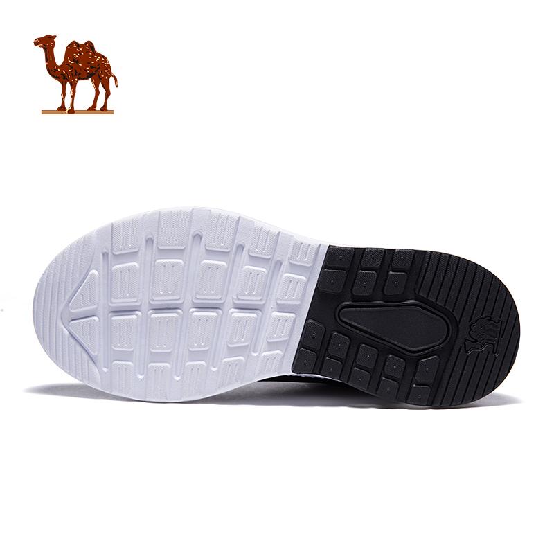 骆驼男鞋皮面防水运动鞋男轻便缓震气垫跑步鞋经典复古休闲旅游鞋