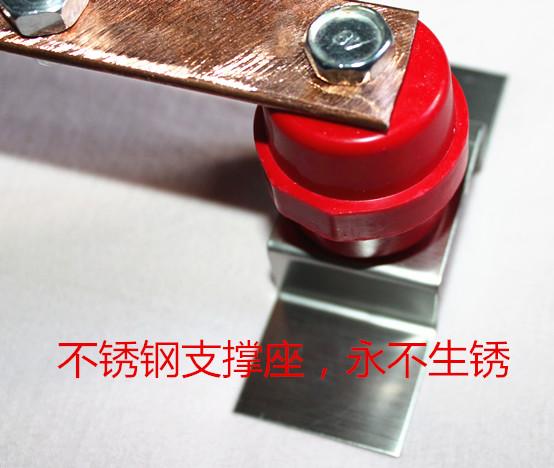 紫铜汇流排3x30x300可订做机房接地机柜机架式铜排等电位连接母排