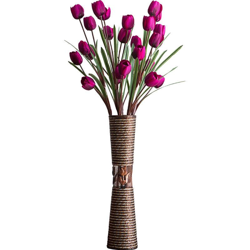 假花仿真花客厅摆设家居室内落地花瓶套装干花插花大花束装饰摆件