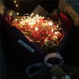 Cake baking birthday bouquet decorative light string box filled glow lamp DIY creative lantern with stars