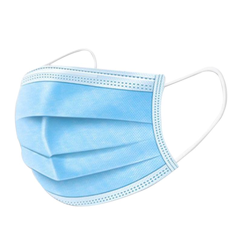现货一次性口罩100只三层防护含熔喷布防尘雾霾成人舒适款鼻透气