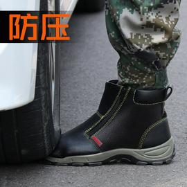 电焊工劳保鞋男士防砸防刺穿高帮钢包头工作专用冬季防水防寒棉鞋