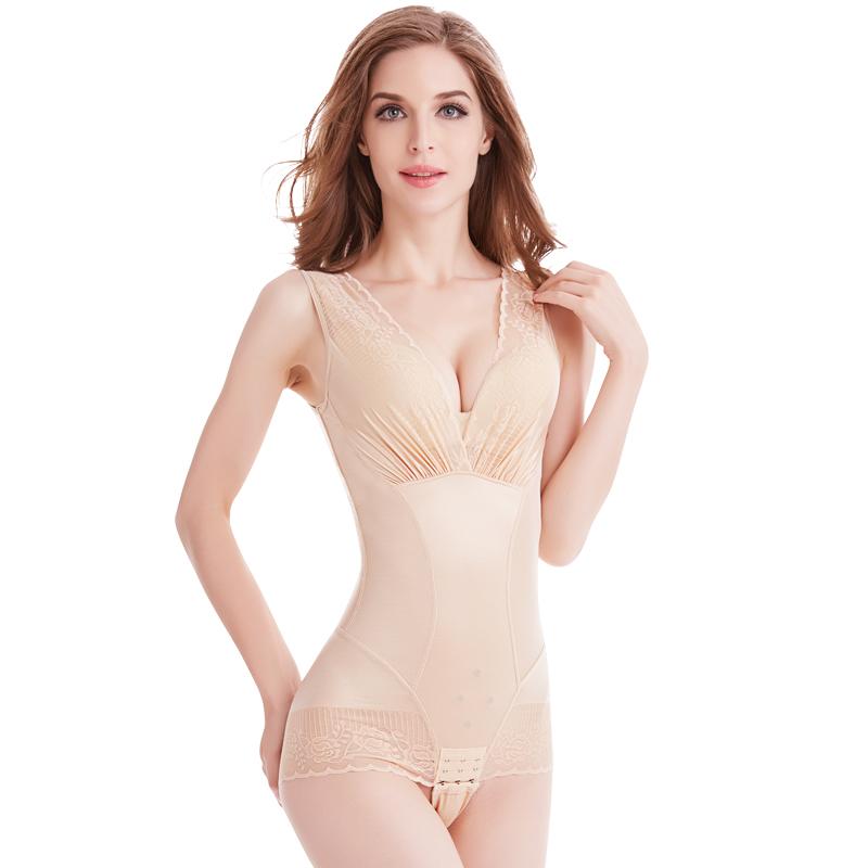 美人谣计收腹束腰连体塑身内衣正品燃脂美体塑形女产后朔身瘦身衣