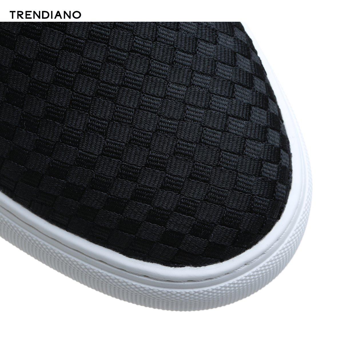 3EA151808P 新男装夏装潮流编织格纹平底低帮鞋休闲板鞋 TRENDIANO