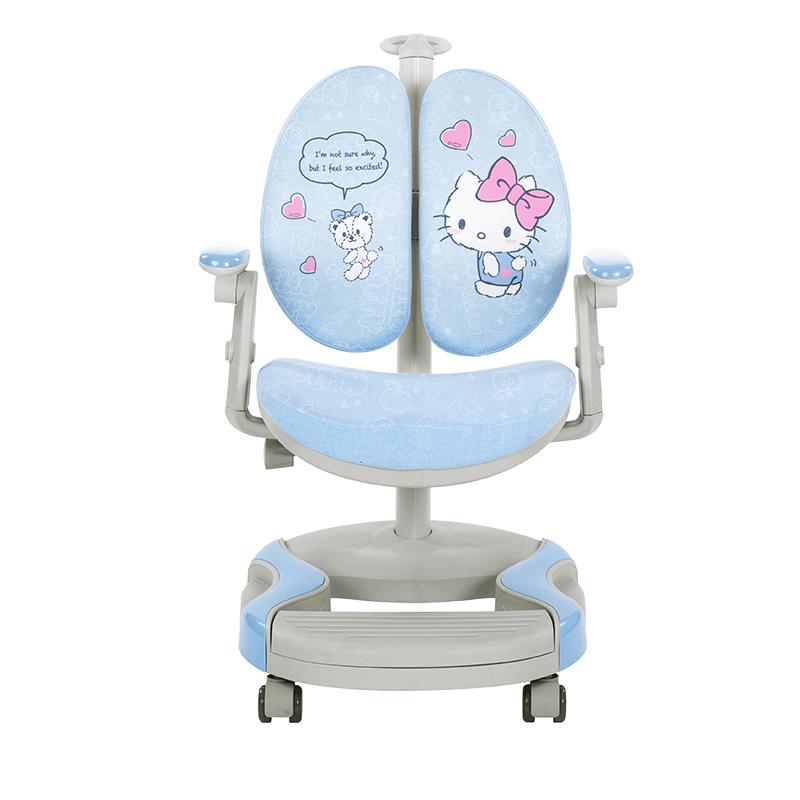HelloKitty儿童学习椅子靠背小学生家用写字椅矫姿可升降调节座椅