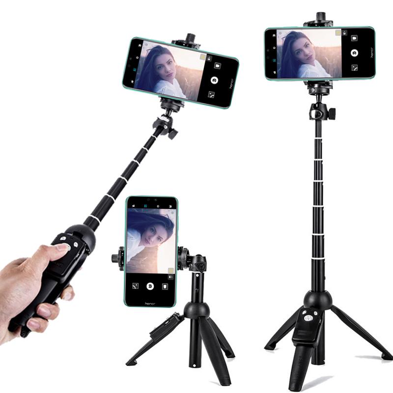 自拍杆万能通用华为便携拍照手机架自照三脚架苹果Xs迷你直播支架