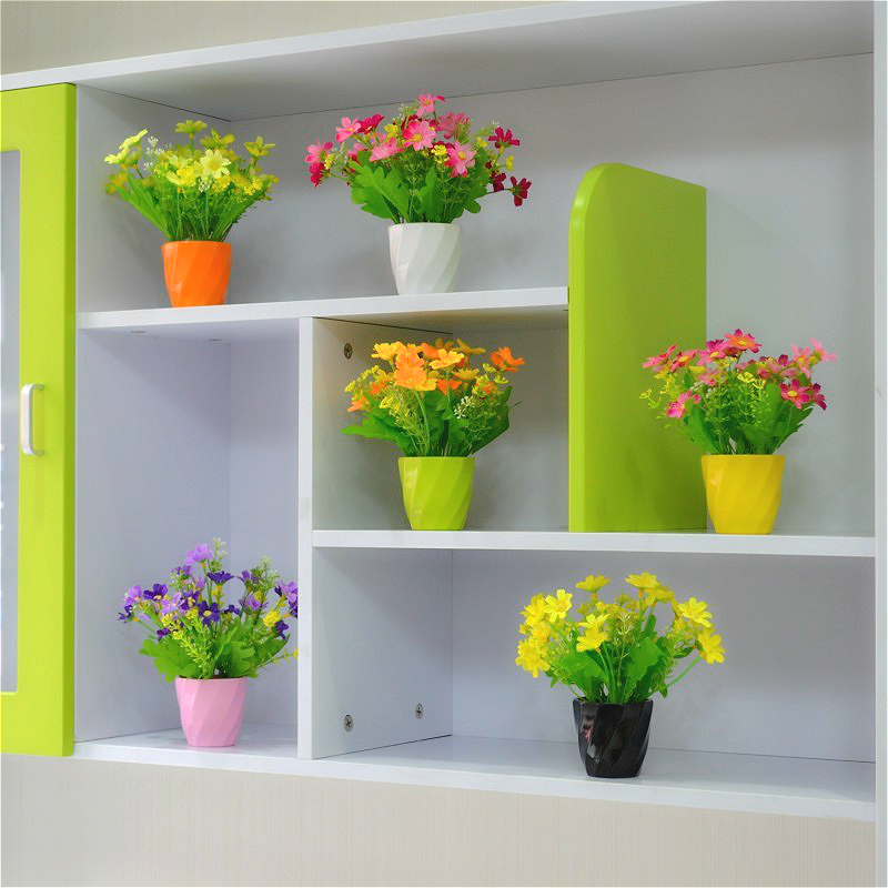 Buy Small Pots Mini Roses Artificial Flowers Suit The Living Room