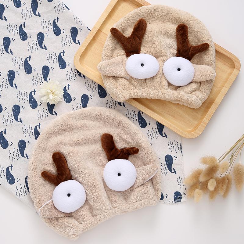 儿童干发帽可爱卡通女童宝宝包头巾超吸水成人浴帽擦头发速干毛巾