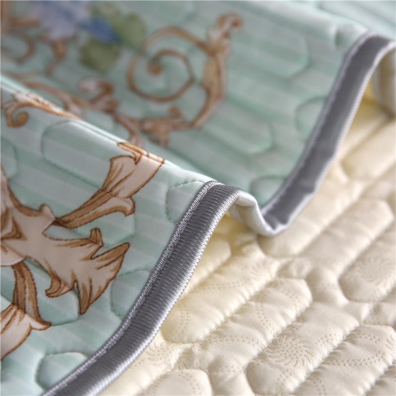 床夏季可機洗折疊席子冰絲涼席三件套 1.8m 泰國乳膠天絲空調軟席