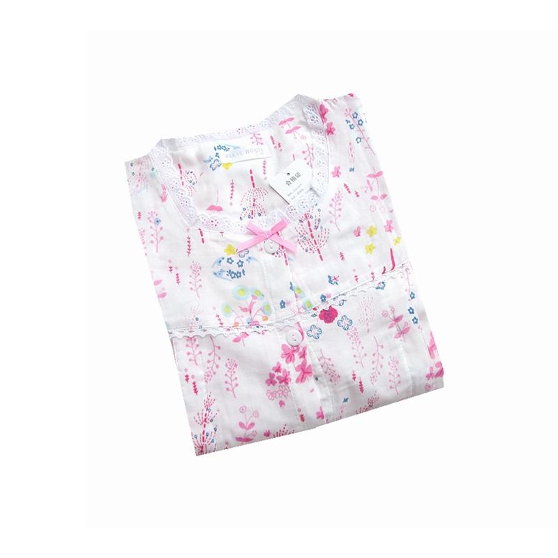 坐月子睡衣女夏超薄款针织棉纱喂奶服棉布孕妇产后春秋月子服大码