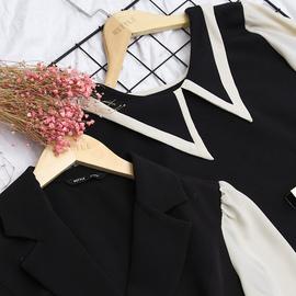 韩都衣舍2019冬装新款韩版女装法式黑裙子闺蜜连衣裙WPRJ6025樰