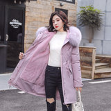 2019 new mid-length long-sleeved cotton women's plus size pie to overcome student jackets down jacket winter Korean loose tide